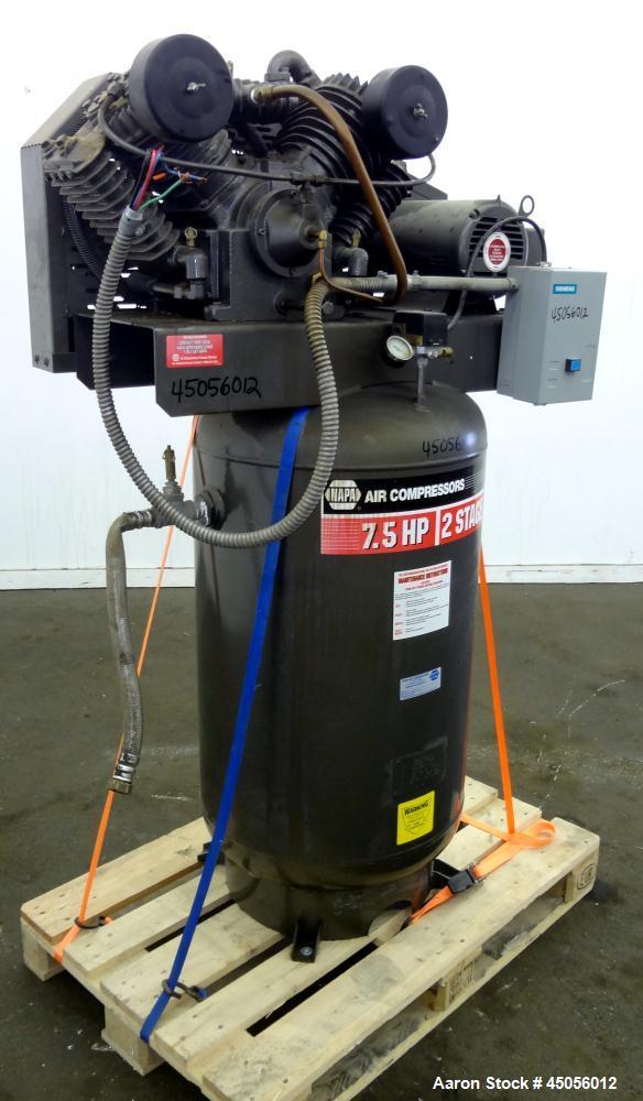 Used-NAPA Air Compressor, Model 82-378VBT.