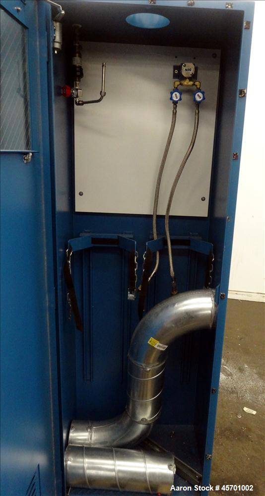 """Used- Advanced Specialty Gas Equipment Gas Cylinder Storage Cabinet, Model GC-2, Carbon Steel.  Cabinet type 2-cylinder, 72""""..."""