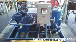 Used- Quincy Natural Gas Compressor, Model 4125NG. Air-cooled, Weg W22 230/460 volt 15 horsepower, 1765 rpm motor. Oil reser...