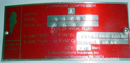 Unused-UNUSED: Pressure Products Industries nitrogen compressor, model 5180.130 psig max suction @ 100 deg F. Max discharge ...
