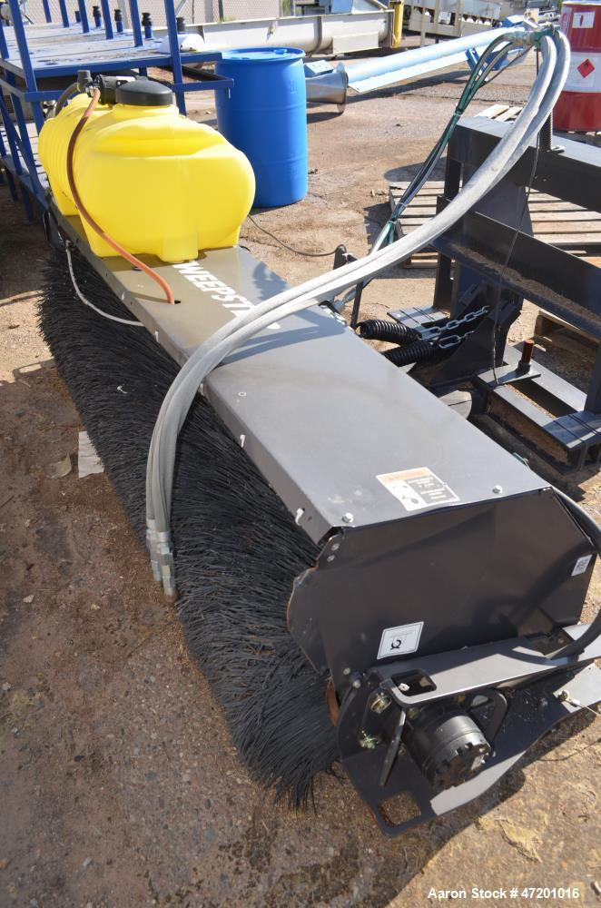 """Used- Sweepster Sweeper Attachment, Model 22084MM-0987. Approxmate 84"""" long brush. Serial# 1219002."""
