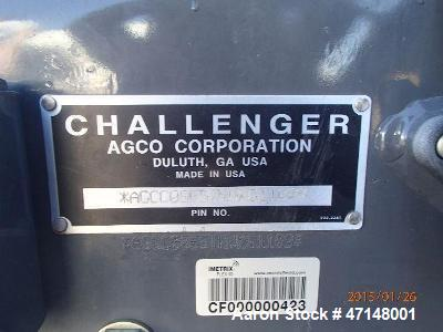 Used- Agco-Challenger, MT865C 2010 Erops Air Conditioner Belts. 30 inch 3-point hitch lightings .O.S. Taken: Yes - Taken 12-...
