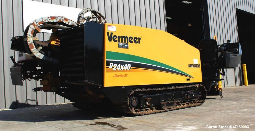 Used- 2005 Vermeer D24X40II Directional Drill with 125 hp John Deere Diesel Engine. Machine features 24,000 lbs. of thrust a...
