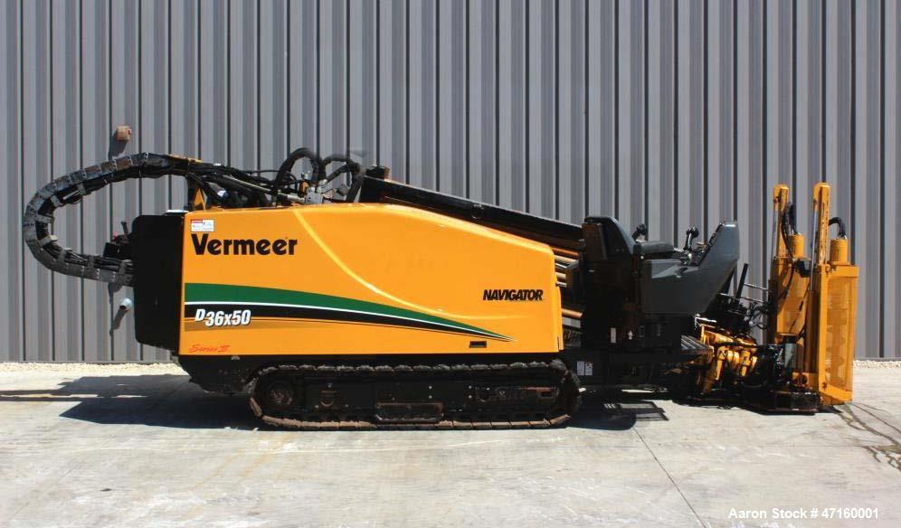 Used- 2008 Vermeer D36X50II Navigator with 140 hp. John Deere Diesel Engine. Machine features 36,000 lbs. of thrust and pull...