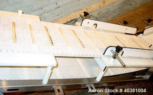 """Used - Plastic mesh incline conveyor. 16"""" wide x 45"""" long infeed section x 10"""" infeed height x 84"""" long incline section. Mou..."""