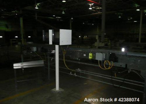 "Used-  (1) Unex Power Roller Conveyor Section 17'L X 16""W Id# K4-11537-3205 & (2) Monitors"