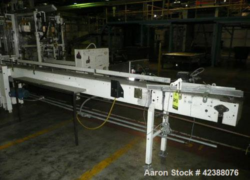 "Used- Dual Lane Nylon Table Top Chain Conveyor  13'L X 10""W & Markem 962 Coder (Missing Power Supply)"
