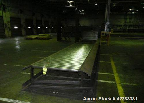 "Used- Roller Conveyor 25'L X 44""W"