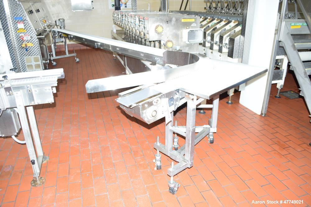 Used-Natec table top discharge conveyor