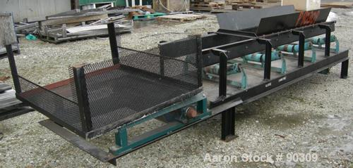 "USED: Rubber belt conveyor, carbon steel frame. Rubber belt approximately 26"" wide x 44' long. (3) Sections. Driven by a 2 h..."