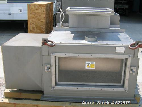 """USED: Acrison weigh belt feeder, model 260WF-36, stainless steel. 36"""" wide belt, 7-1/2' center to center pulley dimension, 6..."""