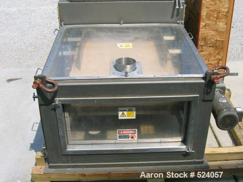 "USED: Acrison weigh belt feeder, model 260WF-36, stainless steel. 36"" wide belt, 7-1/2' center to center pulley dimension, 6..."