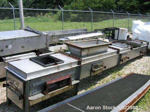 """Unused-UNUSED: B. W. Sincliar model 18, 18"""" stainless steel belt conveyor with metal detector.  Length is 25'. Stainless ste..."""