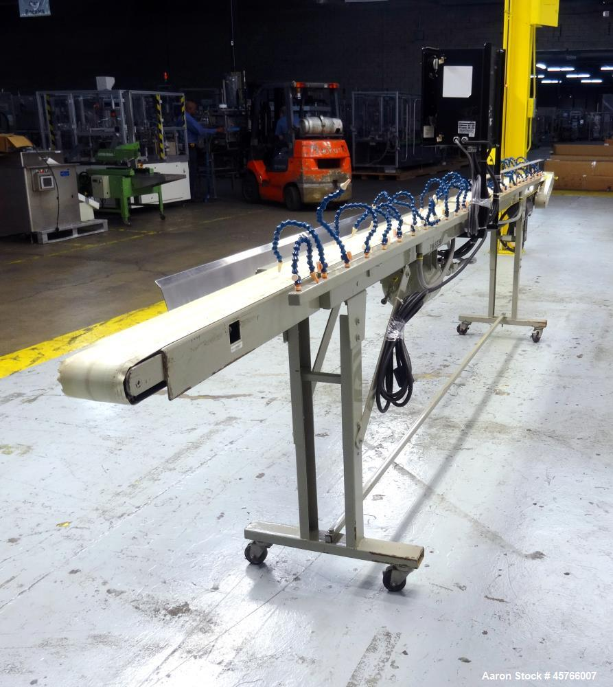 "Used- Conair TC Series Takeaway Conveyor, Model TC6-16. Approximate 6"" wide x 192"" long rubber belt, driven by a 1/3hp gear ..."