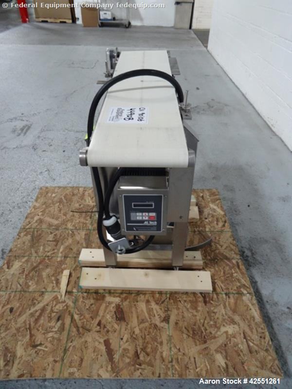 "Used- Dorner 7200 Series Horizontal Belt Conveyor. 8"" Wide x 34"" long smooth belt with 0.5/0.33 hp, 208-230/190V, 3 phase mo..."