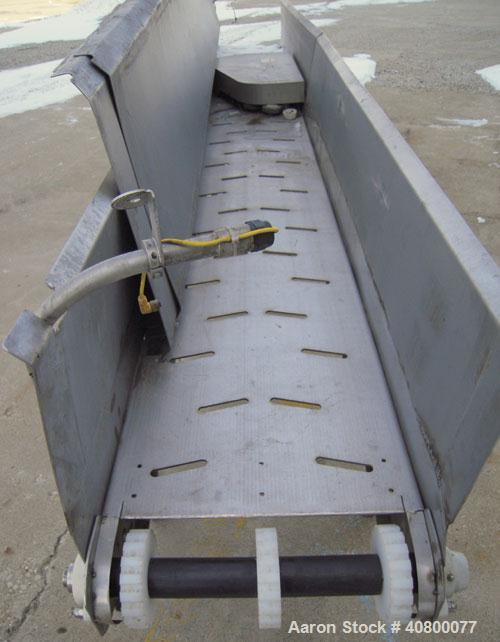"""Used- Heat And Control Deoiler Belt Conveyor, Model CV-BT-PL, 304 Stainless Steel. 18"""" Wide x 186"""" long belt, driven by a 3/..."""