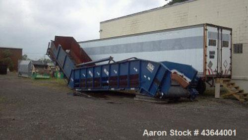 """Used-Krause Conveyor 60"""", 17' horizontal loading area, 30' incline, 3' nose over section, 60"""" wide x 1/2"""" thick rubber drag ..."""