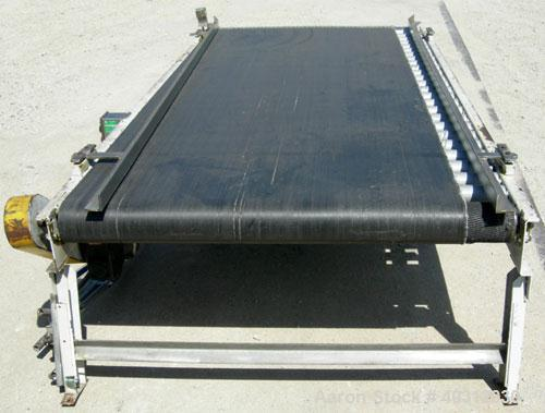 "Used- Lewco Equipment belt conveyor, model MDRB-48-4-112-20. 45"" wide x 108"" long rubber belt. Driven by a 1/2 hp, 3/60/208-..."