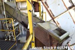 "Used- Belt Conveyor, Stainless Steel. Approximate 14"" wide x 120"" long cloth belt, driven by a 3/4hp, 3/60/230/460 volt, 172..."