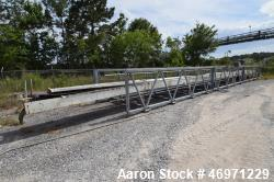 "Used- Ranco Fertiservice Transfer Conveyor, Approximate 200 TPH. 248' OAL x 7'wide overall. Approximate 24"" wide x 142.5' tr..."