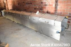 Used-Cooling Conveyor, Stainless steel housing, Neopreen Belt, 1' wide x 27' Long.