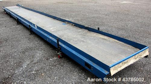 "Used- LaRos Belt Conveyor, Model E-507-42-36.00. 40"" Wide x 424"" long rubber belt. Driven by a 1/3 hp, 1/60/115/208-230 volt..."