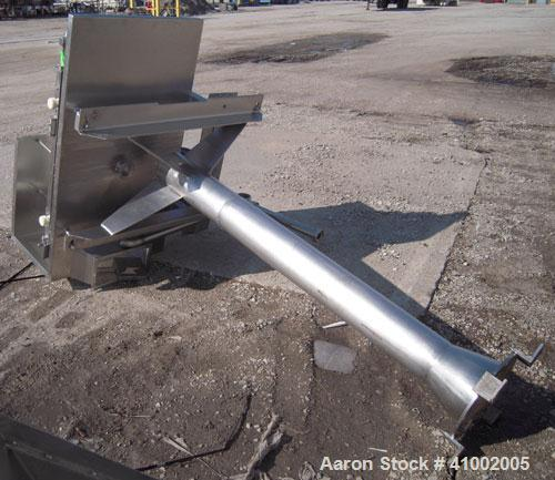 """Used- Belt Conveyor. 18"""" wide x 40"""" long rubber belt, driven by a 1/2 hp, 1/60/115/230 volt, 1725 rpm motor with reducer. Mo..."""