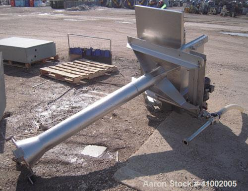 "Used- Belt Conveyor. 18"" wide x 40"" long rubber belt, driven by a 1/2 hp, 1/60/115/230 volt, 1725 rpm motor with reducer. Mo..."