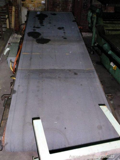 "Used- Belt Conveyor, Carbon Steel. 48"" Wide x 13.5' long belt."