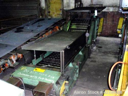 Used- Z Style Metal Cleated Belt Conveyor