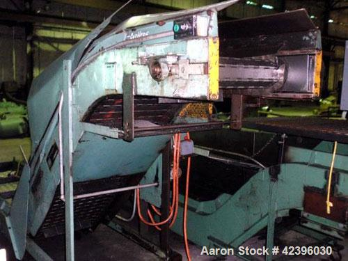 """Used- Mayfran International Z Style Belt Conveyor. 22"""" Wide x 7' long flat section, 7' long inclined section, 3' flat sectio..."""