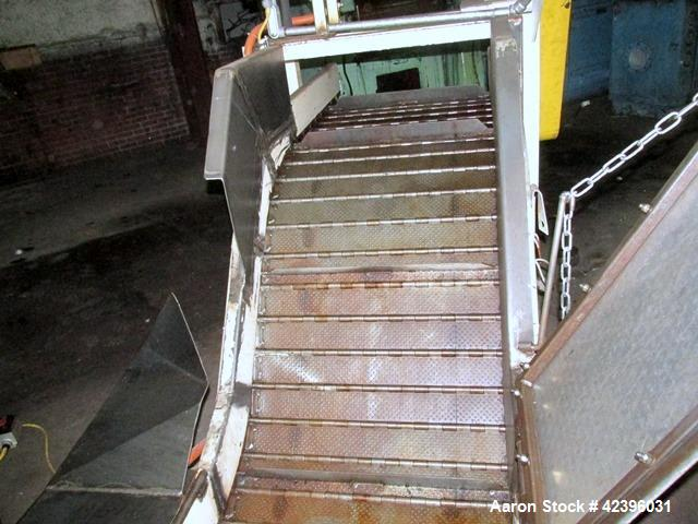 Used- Transcon Z Style Metal Cleated Belt Conveyor