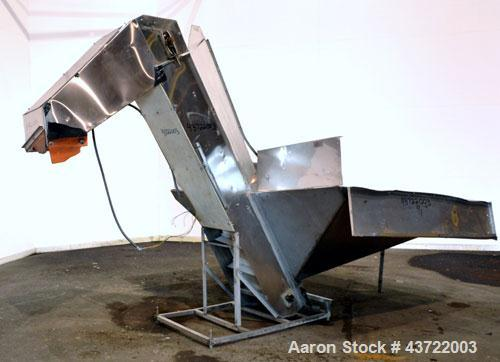 Used- Stainless Steel Inclined Belt Conveyor
