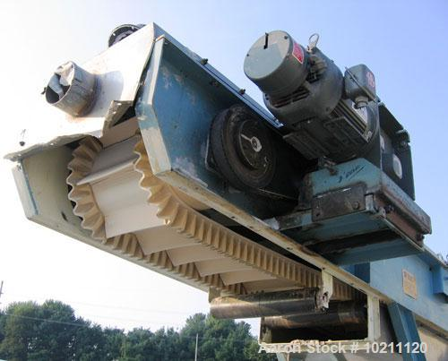 """Used-12"""" Wide X 36' Long Inclined Enclosed Cleated Belt Conveyor, Model BC-12HD-35C-FW. Manufactured by Professional Enginee..."""