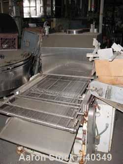 "Used- Thomas L. Green Belt Conveyor. 28"" Wide x 96"" long stainlesss steel wire belt. Driven by a 1/2 hp DC motor. Includes c..."