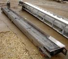 USED: Belt conveyor, 304 stainless steel frame. Rubber belt 15