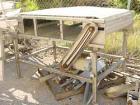Used- Inline Conveyor. Plastic Interlox type belt 36