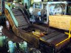 Used- Z Style Metal Cleated Belt Conveyor. 48