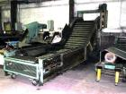 Used- Z Style Metal Cleated Belt Conveyor. 46