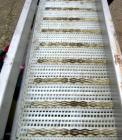 Used- SIM Fabricators Incline Belt Conveyor. Plastic belt 12