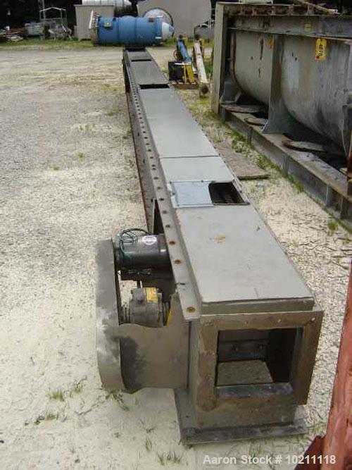 "Used-9"" X 28' Flexwall Belt Conveyor Manufactured by TWG Machine Inc, Honeoye NY. Conveyor sidewall is 2"" tall. Intermediate..."