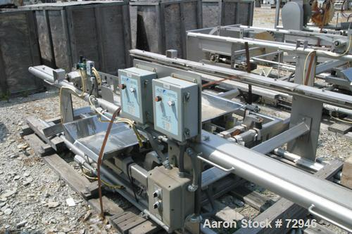 USED:Allen Machinery bucket conveyor, model BED42910.  Rated 36    buckets a minute (3) 304 stainless steel horizontal secti...