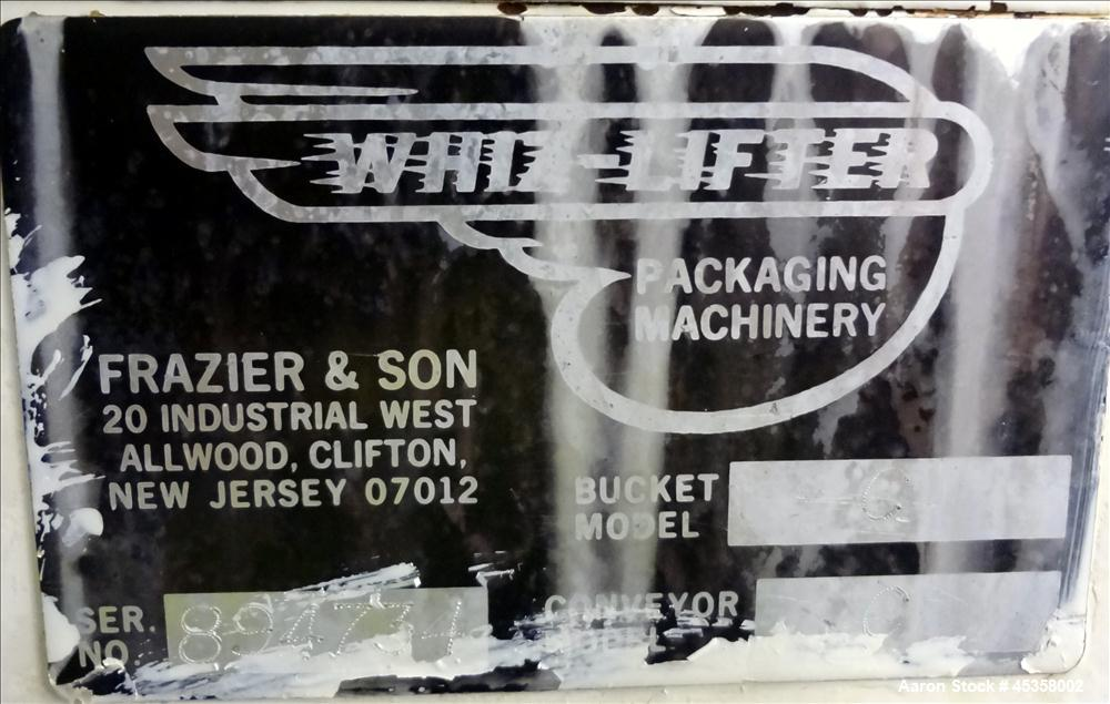 Used- Frazier & Sons Whiz-Lifter Bucket Elevator, Model C