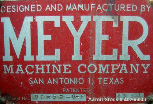 """Used- Meyer Overlapping Bucket Elevator, Model PC-52-6-S, carbon steel. Approximately 136"""" tall.  Plastic buckets 6"""" long x ..."""