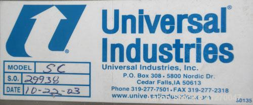 Used- Universal Industries Vertical Bucket Elevator, Model SC, 304 Stainless Steel Frame. Plastic buckets approximately 6'' ...