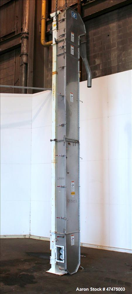 Used- Universal Industries Vertical Bucket Elevator, Model SC