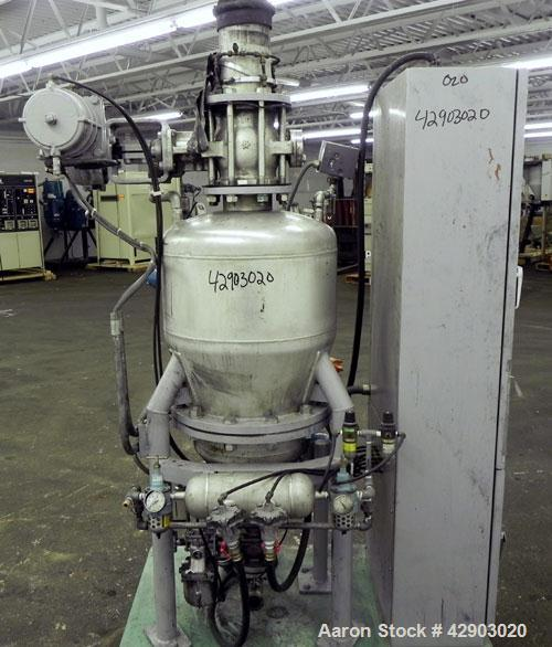 Used- Nippon Pneumatic Conveyor, Model HT, 304 Stainless Steel. Includes a control panel. Mounted on a carbon steel base wit...