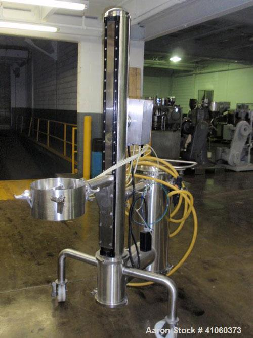 Used- PIAB vacuum conveyor system, stainless steel construction with model MLL200 vacuum pump with filter, mounted on protab...