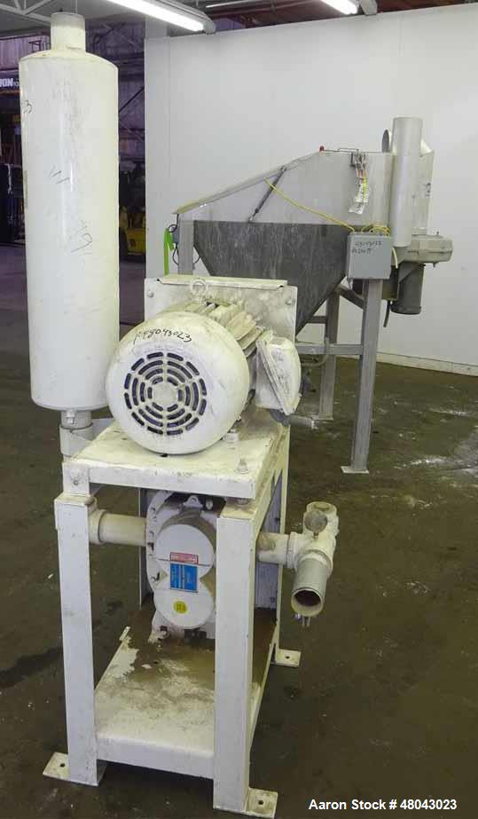 Used- Pneumatic Conveying Inc. Bag Dump Hopper, 304 Stainless Steel.