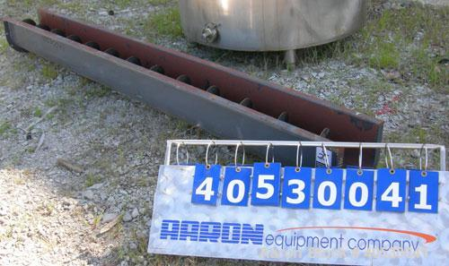 "Used- Screw conveyor section, carbon steel, consisting of (1) 9"" diameter x 117"" long x 4 1/2"" pitch, (1) trough section 10""..."